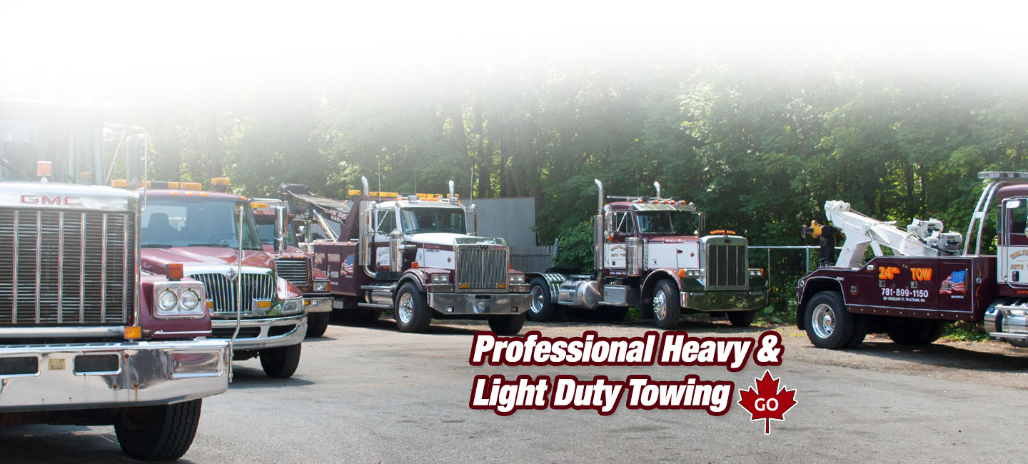 Professional Light and Heavy Duty Towing in the Waltham MA area